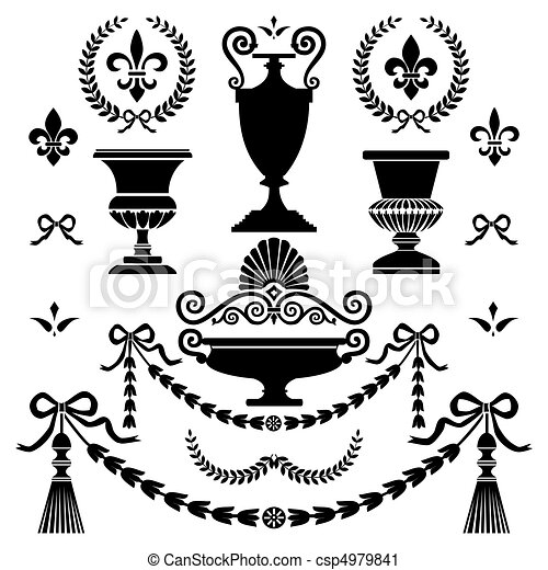 Classic style design elements - csp4979841
