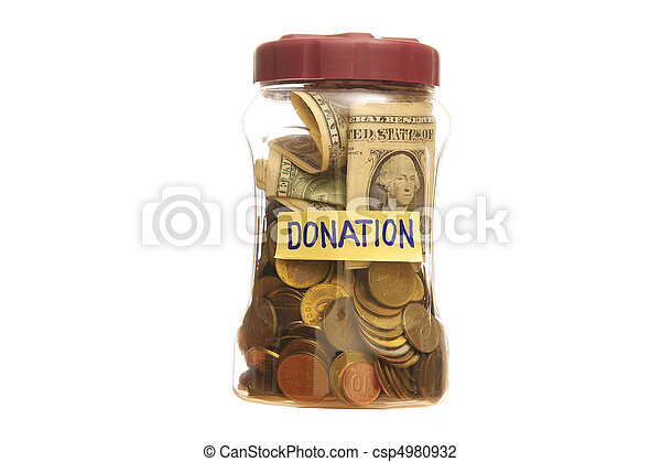 Donation in a Jar - csp4980932