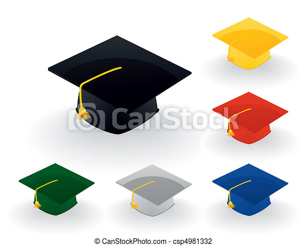 Magistersky a hat of the graduate of college. A vector illustration - csp4981332
