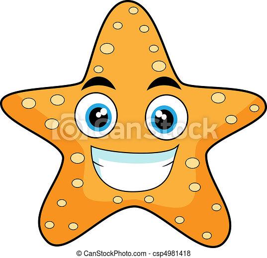 cute looking starfish  - csp4981418