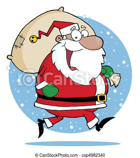 Vector Clipart of African American Santa Claus - African ...