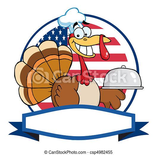 Turkey Bird Chef  - csp4982455