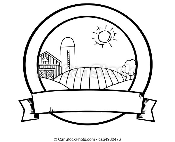 Outline Country Farm Banner  - csp4982476