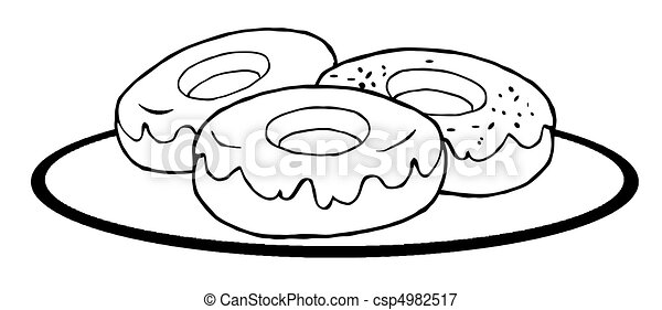 Outlined Donuts 4982517 on Cartoon Coffee