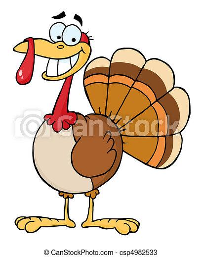 Thanksgiving Turkey Bird Smiling - csp4982533