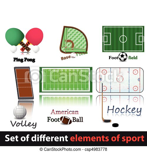 Set of elements of sport. - csp4983778