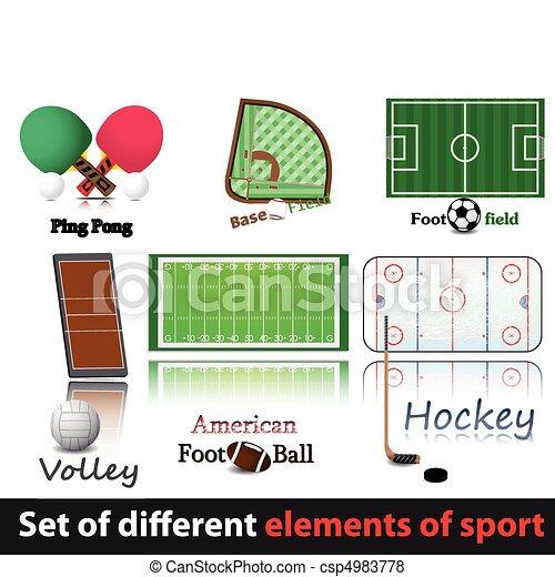 Set of elements of sport. - csp4983778
