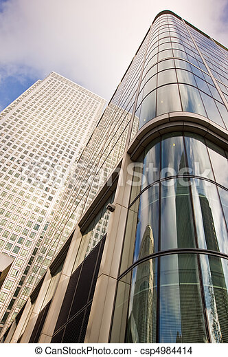 Buusiness concept financial district modern skyscrapers - csp4984414