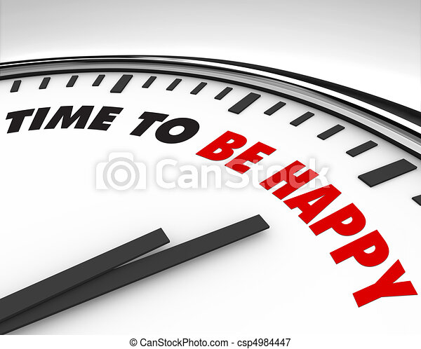 Time to Be Happy - Clock - csp4984447