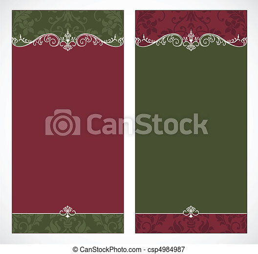 Vector Tall Christmas Backgrounds - csp4984987