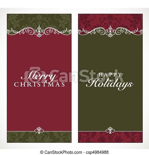 Vector Tall Christmas Frames - csp4984988