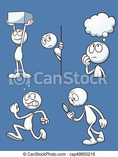 Cartoon actions - csp49850218