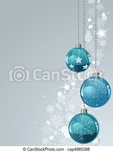 Christmas Background with balls and - csp4985398