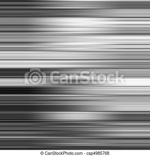 Metallic gray blur horizontal stripes abstract background. - csp4985768