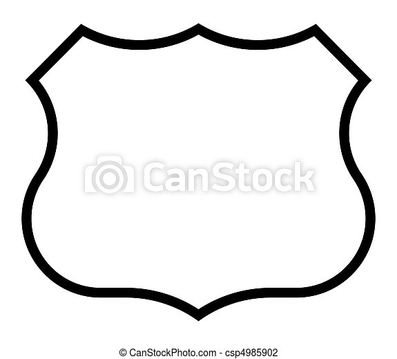 Blank American highway route sign - csp4985902