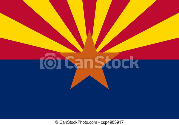 Arizona State flag - csp4985917