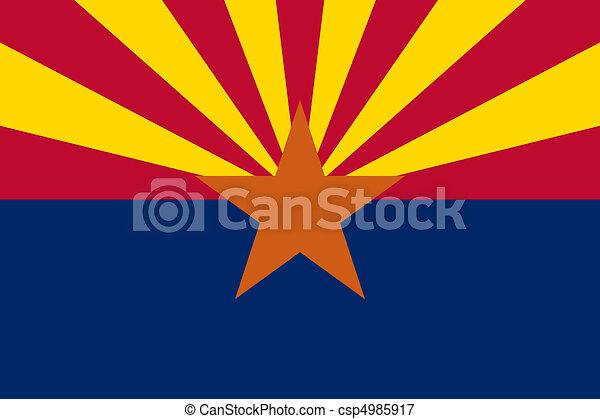 Arizona State flag - csp4985917