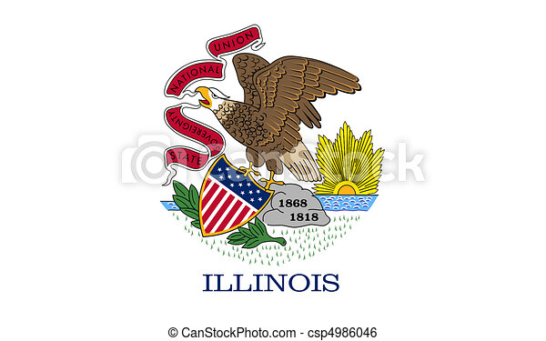Illinois state flag - csp4986046
