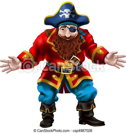 Pirate, the jolly sailor  - csp4987026