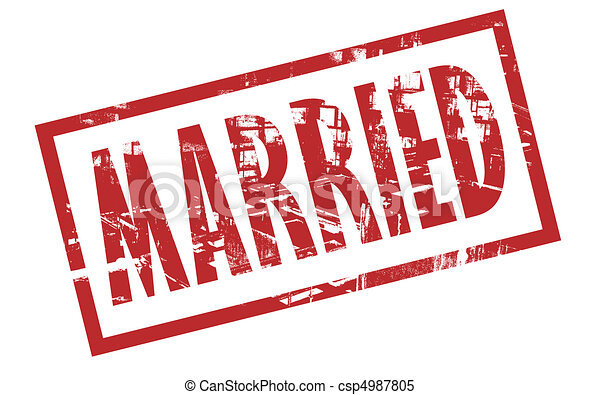 Married stamp - csp4987805