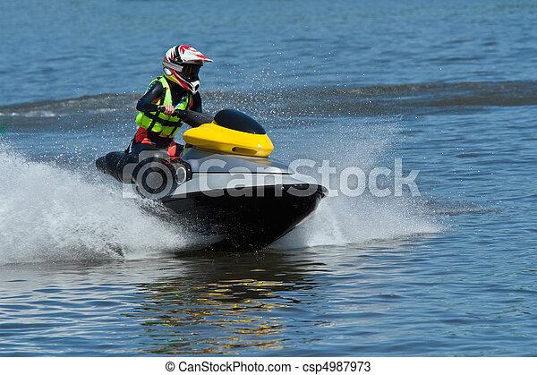 Jet ski water sport - csp4987973