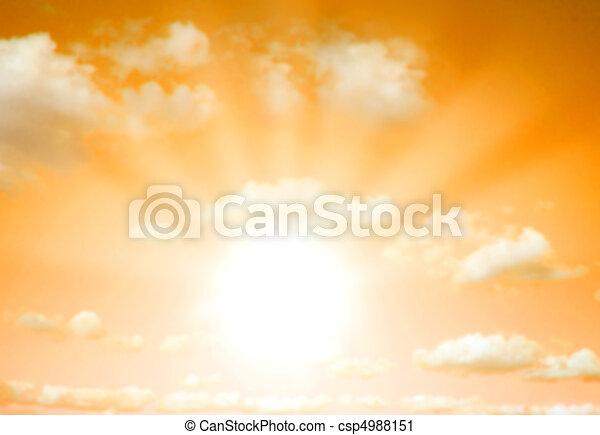 Sunrise / sunset background - csp4988151