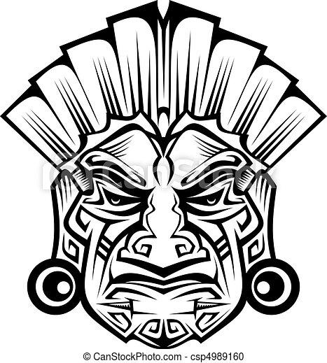 Ancient mask - csp4989160
