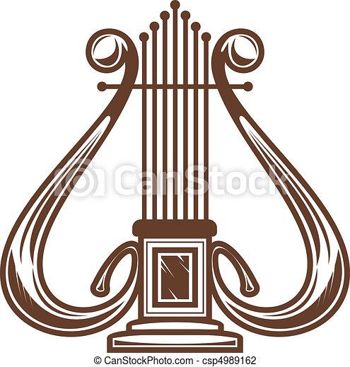 Ilustraciones de Vectores de musical, Instrumento, arpa - musical ...