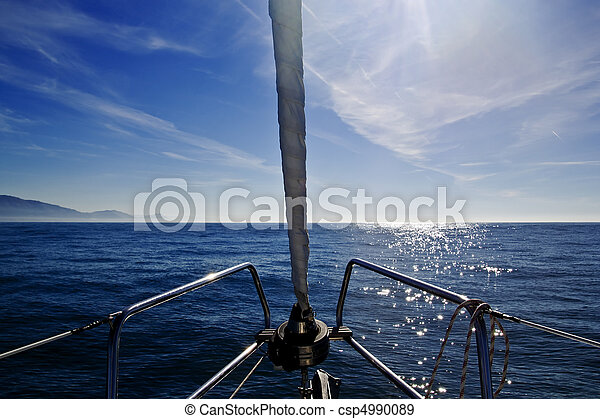 Inside sailboat - csp4990089
