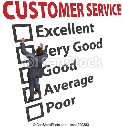 Business man customer service satisfaction form - csp4990383