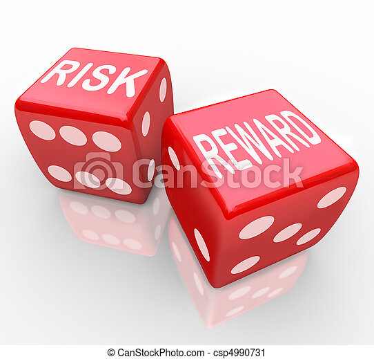 Risk and Reward - Words on Dice - csp4990731