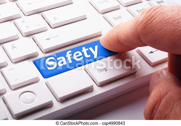 säkerhet, första - csp4990843