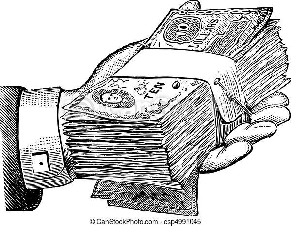 Free Money Drawings Vector Vector Money Donation