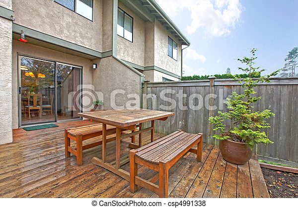 Patio on the back yard