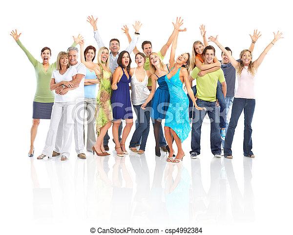 幸せ, 人々 - csp4992384