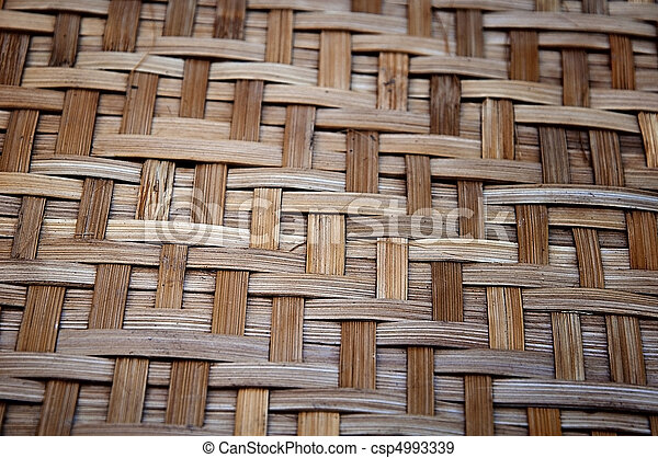 Bamboo handy craft detail - csp4993339