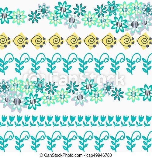 Floral pattern  abstract design ornamental  vector illustration - csp49946780