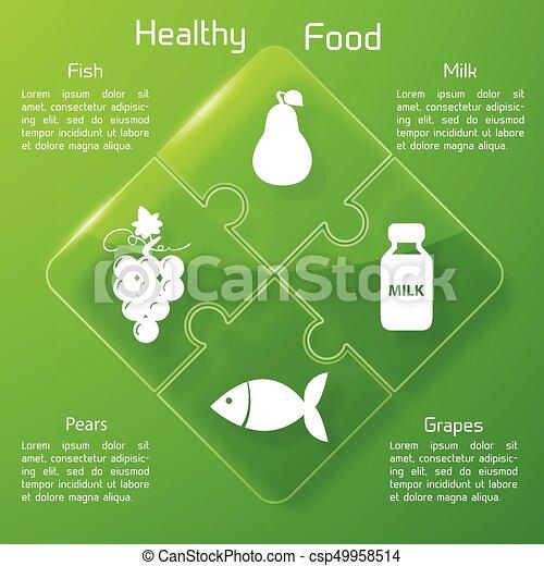 Healthy Food Infographics - csp49958514