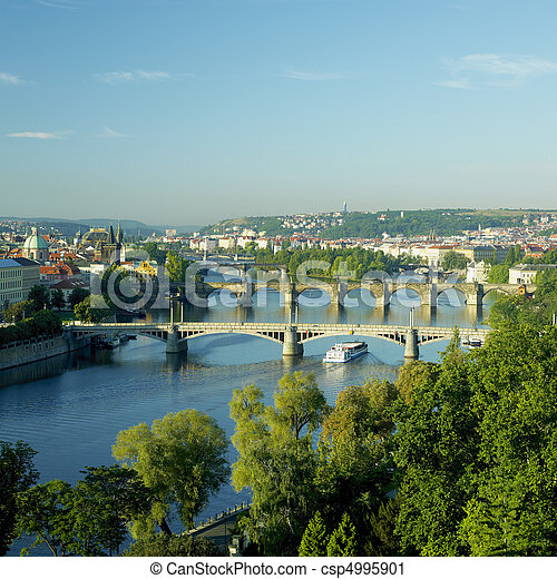 bridges, Prague, Czech Republic - csp4995901