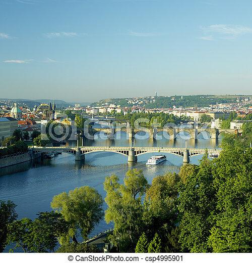 bridges, Prague, Czech Republic - csp4995901