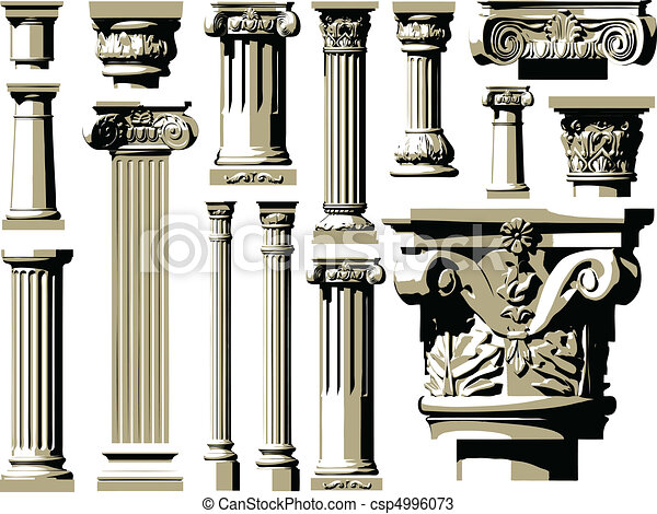 Vector set of vintage ancient colum - csp4996073