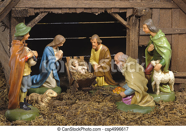 nativity scene - csp4996617
