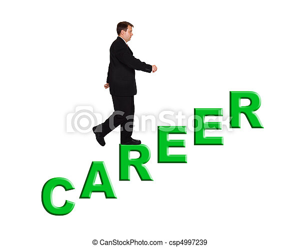 Businessman and stairs Career - csp4997239