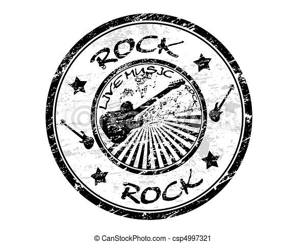 Rock stamp - csp4997321