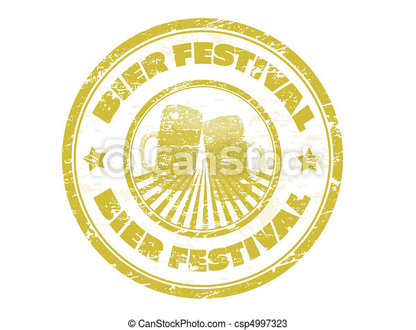Bier Festival stamp - csp4997323