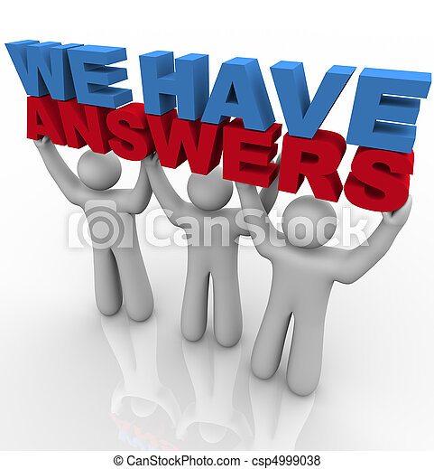 We Have Answers - People Lifting Words - csp4999038