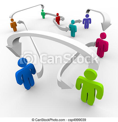 connecté, réseau, gens - csp4999039