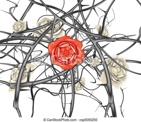 Stock de Ilustration de rojo, rosa, negro, Espinas - 3D ...