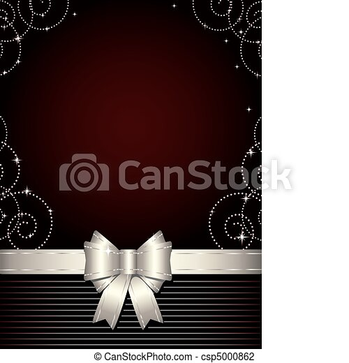 Christmas  background with silver b - csp5000862