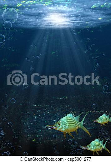 Underwater Fantasy Scene - csp5001277